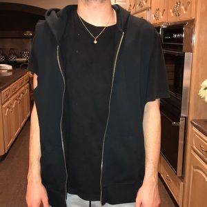 F.O.G authentic sleeveless half zip jacket
